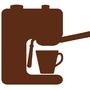 Рожковая кофемашина. Левая трубка - это капучинатор
