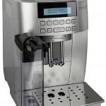 Серебряная Delonghi ECAM 22.360 S Magnifica: фото кофеварки спереди