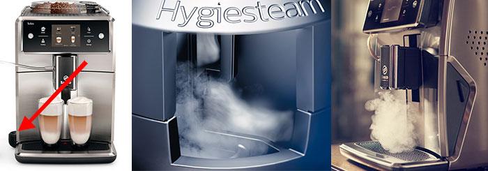 Система очистки паром на новой Саеко Кселсис SM7580, SM7683, SM7685 под названием HygieSteam