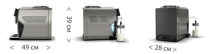 Габариты кофемашины Saeco Xelsis New SM7685/00