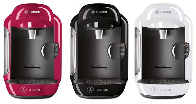 BoschTassimo Vivy T12 в розовом, черном и белом цветах