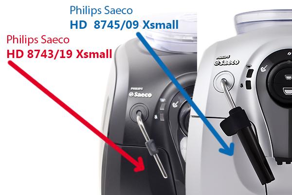 В чем отличие кофемашины Филипс Саеко hd8743 и hd9745