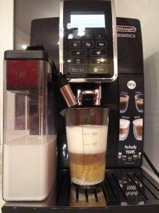 Пример кофемашины - полного молочного автомата - Delonghi 350.55