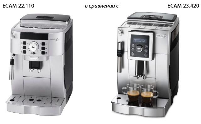 Сравнение кофемашин DeLonghi ECAM 22.110 и DeLonghi ECAM 23.420