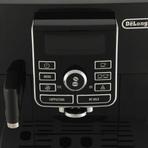 Кофемашина Делонги ЕКАМ 25.462 отличается панелью управления, дающей большой выбор предуставновленных молочных напитков