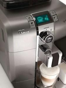 Philips Saeco HD8838, также известная, как Philips Saeco Syntia Cappuccino с молочным кувшином
