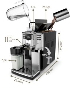 Технические характеристики кофемашины Philips Saeco HD8918