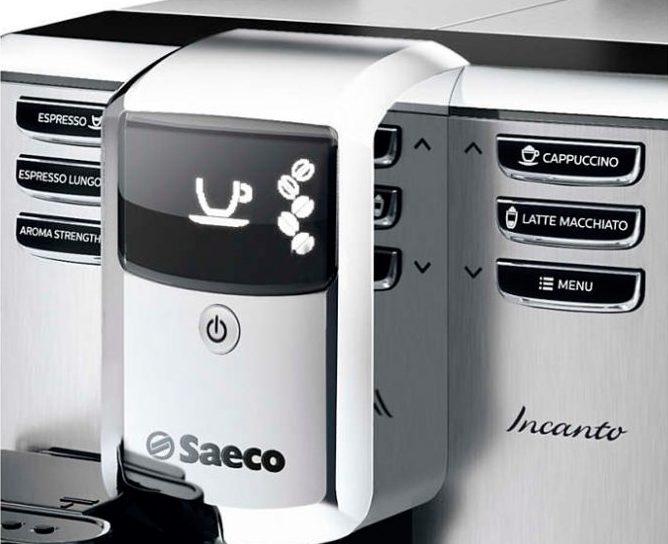 С панели управления кофемашины Philips Saeco HD8918 можно приготовить 4 самых популярных напитка в одно нажатие