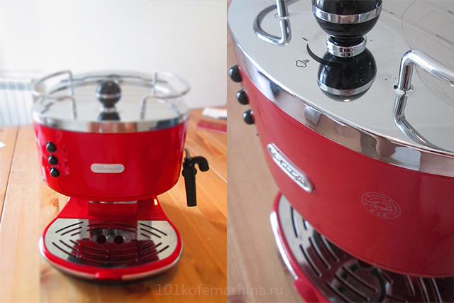 Рожковая кофеварка Delonghi ECO 311 Icona (красная)
