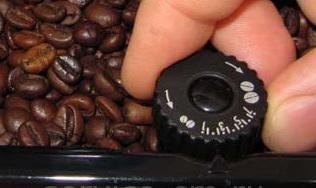 настройка помола в типичной кофемашине