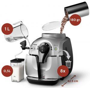 Технические характеристики кофемашины Philips HD8654