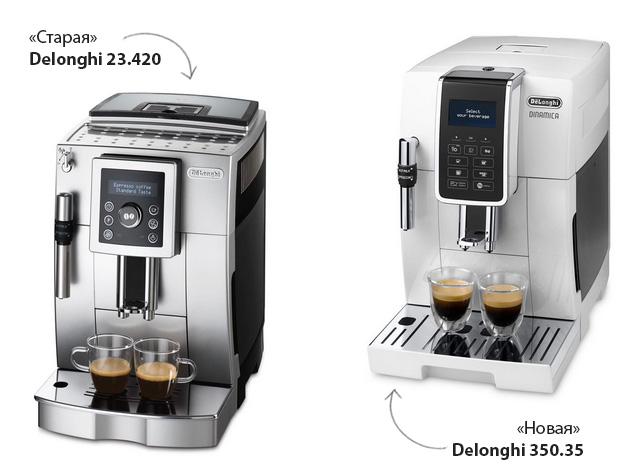 Отличия DeLonghi ECAM 350.35 Dinamica от ECAM 23.420