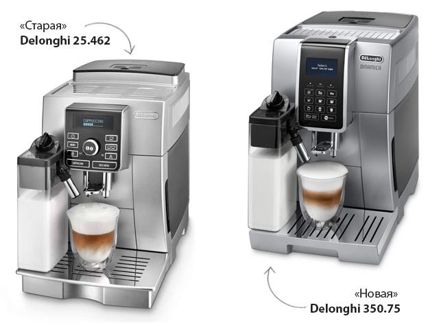 Отличия DeLonghi ECAM 350.75 Dinamica от ECAM 25.462