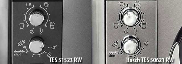 У Bosch TES 50621 RW больше настроек крепости кофе. чем у моделей Bosch TES51521RW и TES51523RW