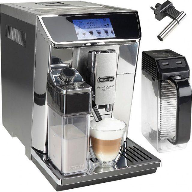 По сути в кофемашина DeLonghi ECAM 650.75 есть три сменных капучинатора: автоматический для взбивания молочной пены для кофе, ручной (также для пены для кофе) и специальный кувшин, готовящий горячий шоколад (какао).