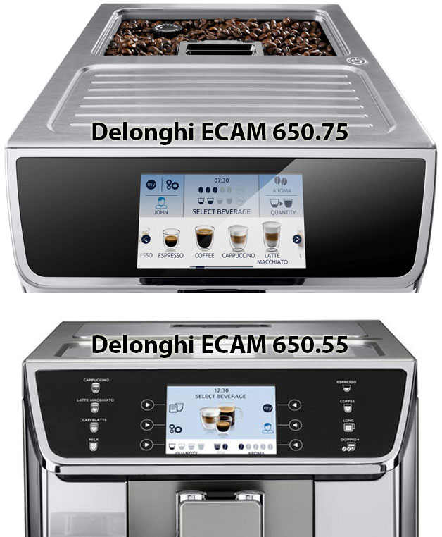 Сравнение Delonghi ECAM 650.75.MS с ECAM 650.55.MS