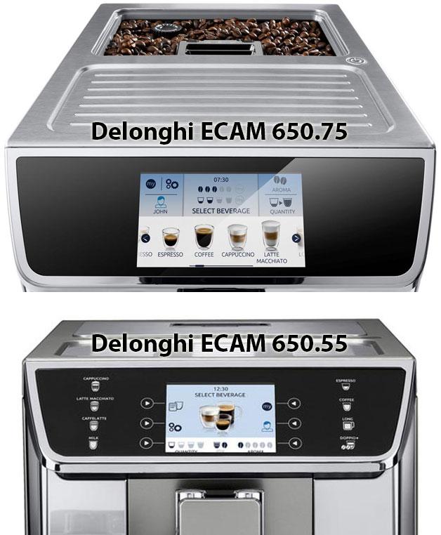 Сравнение Delonghi ECAM 650.75.MS с ECAM 650.55.MS