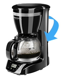У кофеварки Redmond RCM-1510 бак расположен практически сзади. Не очень удобно.