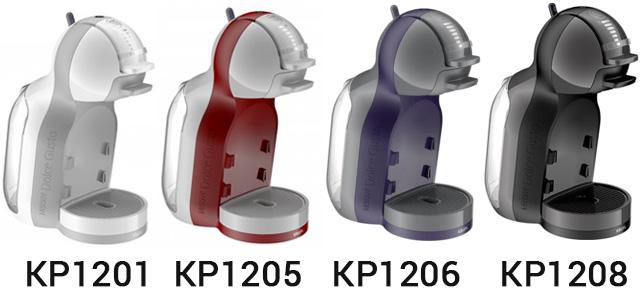 4 цвета кофеварки Krups Mini Me