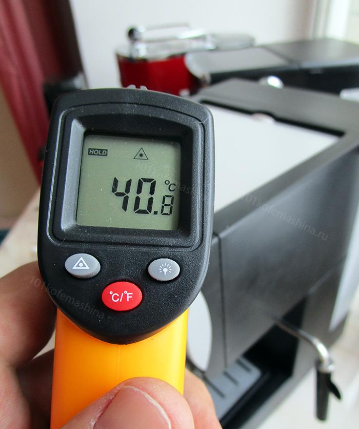 Пирометром я измерял температуры бойлера, кофе и пассивного подогрева чашек