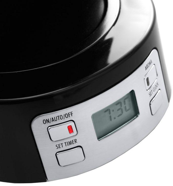 У кофеварки Delonghi ICM 15250 есть доп. функции: таймер, автоотключение и регулировка крепости