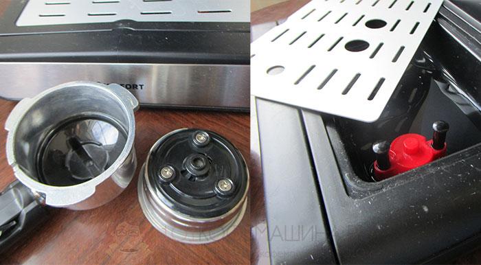 Конструкция фильтров и поддон для капель
