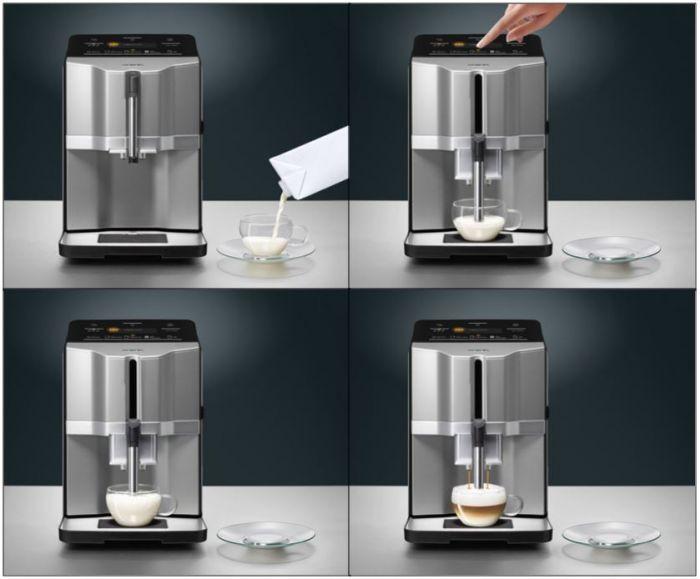 Капучино у кофемашины siemens ti303203rw готовится по фатку в ручном режиме