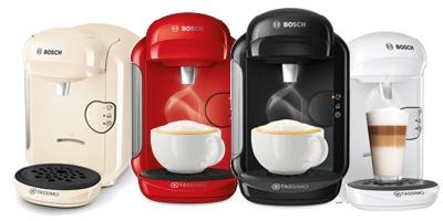 Цветовая гамма линейки капсульных кофемашин Bosch Tassimo Vivy II T14