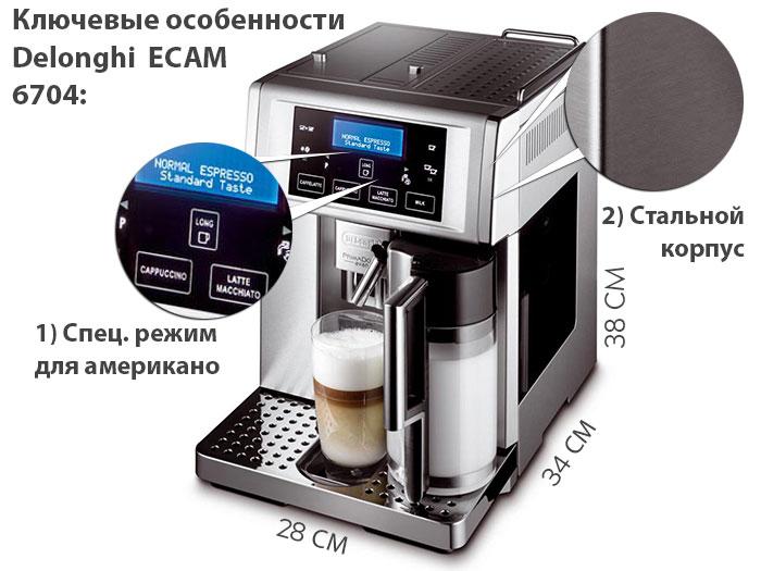 Ключевые особенности кофемашины Delonghi ECAM 6704/6700 PrimaDonna Avant