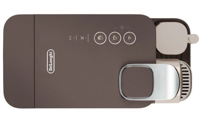 Капсульная кофемашины Вудщтпрш EN500BW: вид сверху на панель управления с кнопками
