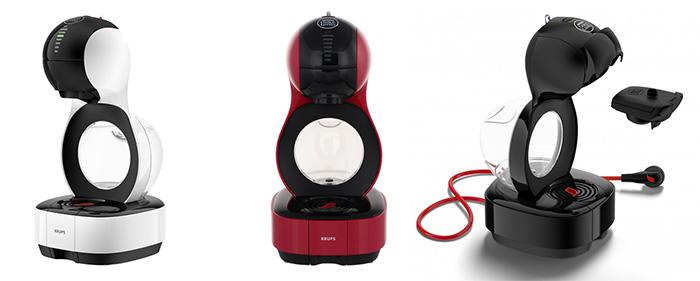 Три цветовых решения новой капсульной кофеварки Krups Dolce Gusto Lumio.