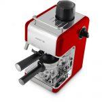 Красная рожковая кофеварка Polaris PCM 4002A