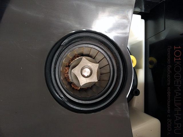 Коническая кофемолка кофемашины Krups Evidence (conical grinder)