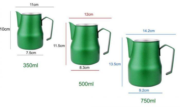 Размеры и объемы питчеров для молока