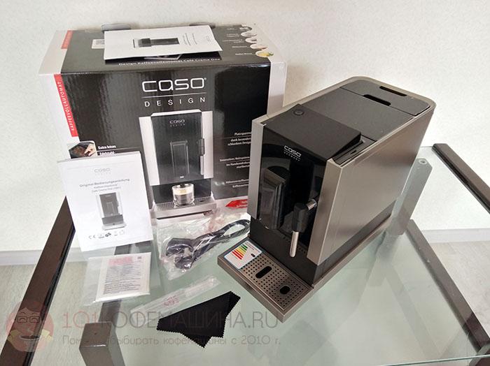 Распаковка кофемашины CASO Café Crema One