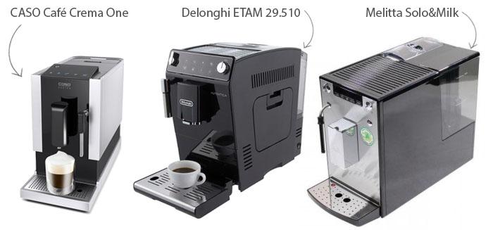 Коллаж-сравнение CASO и других компактных кофемашин