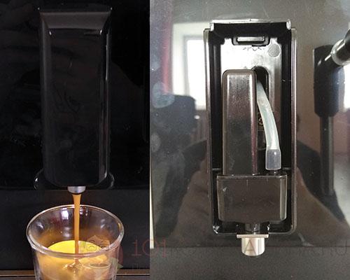 Диспенсер кофе и напорный клапан в нём на кофемашине CASO Café Crema One