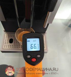 Замеры температуры кофе