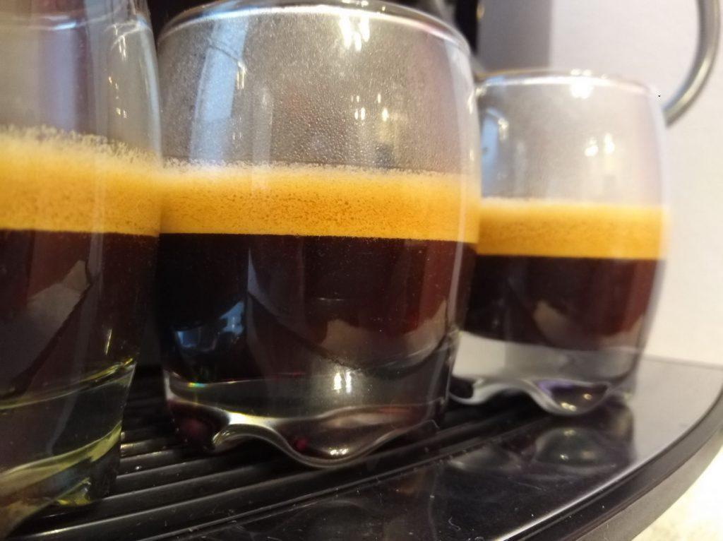 Эспрессо на кофемашине Jura D6