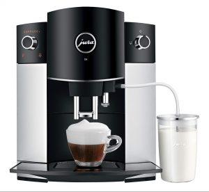 Капучинатор у автоматической кофемашины JURA D6 сделан в виде отводного шланга, который можно опутстить прямо в тетра-пак с молоком