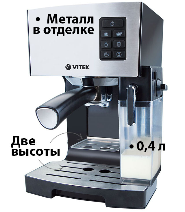 Кофеварка (кофемашина) Vitek VT-1522 BK