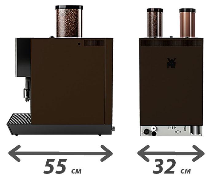 Размеры (габариты) кофемашины WMF1200S