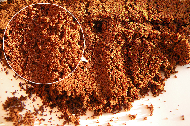 Фото образец помола на кофемолке Polaris PCG 1620