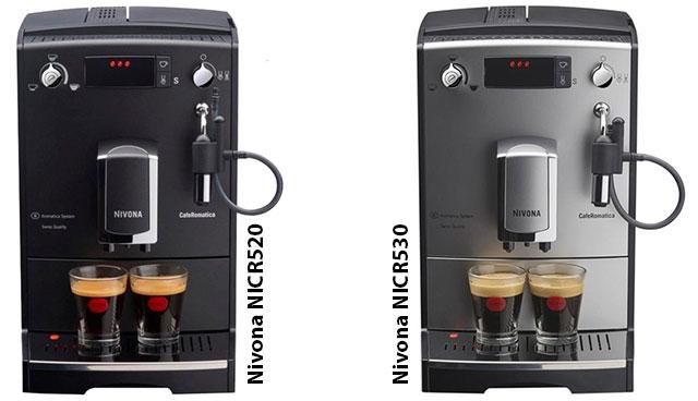 Отличия между кофемашинами Nivona Caferomatica NICR 520 и NICR530
