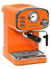 Оранжевая рожковая кофеварка Oursson EM1505/OR