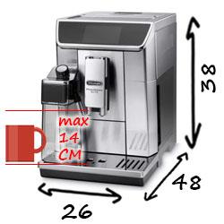 Размеры Delonghi ECAM 650.75