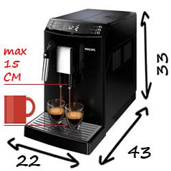 Размеры кофемашины Philips EP3519