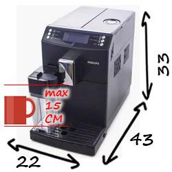 Philips EP3558/3559 размеры