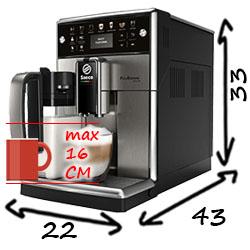 Saeco SM5570/5572/5573 PicoBarista Deluxe размеры