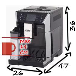 Размеры Delonghi ECAM 550.55